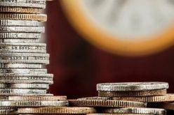 Geldmünzen Stapel