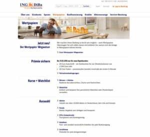 ING-DiBa Aktiendepot