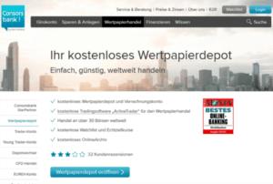 Consorsbank bietet ein kostenloses Wertpapierdepot