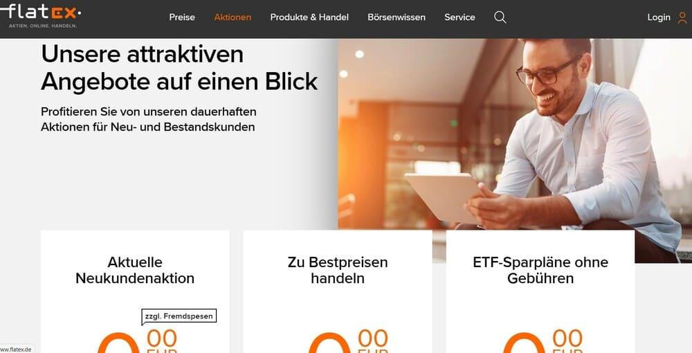 flatex Angebote - Flatex Erfahrung
