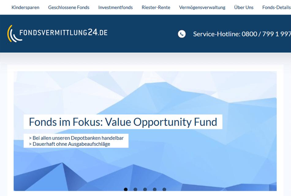 Fondsvermittlung24 Desktop