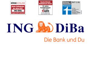ING-DiBa Auszeichnungen