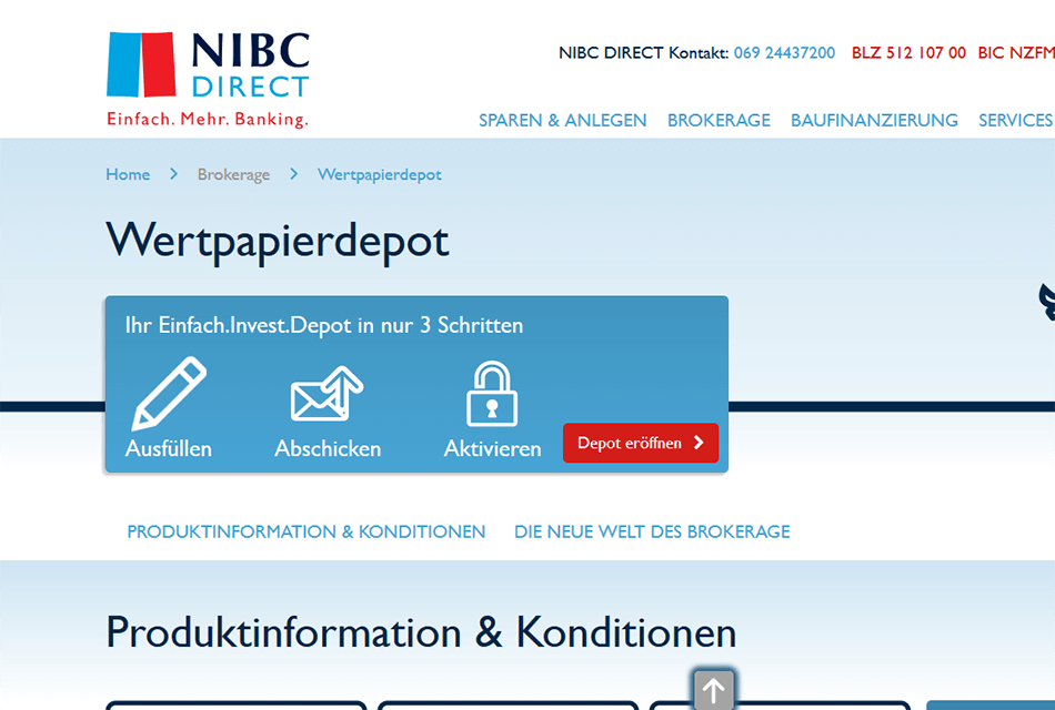 NIBC Direct Desktop