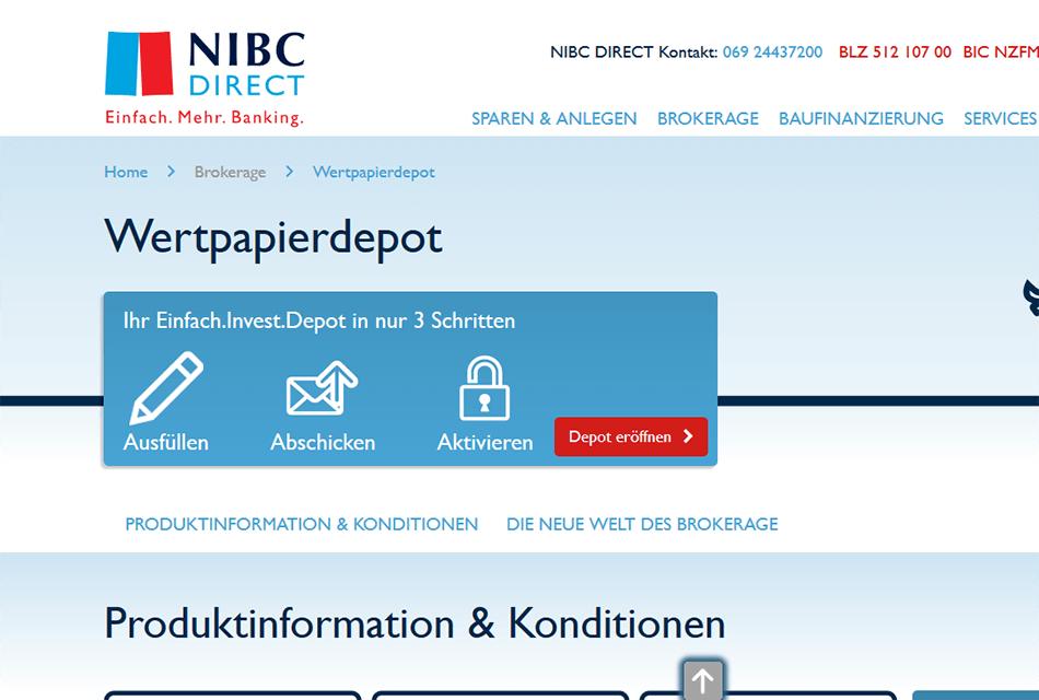 NIBC Direct Desktop