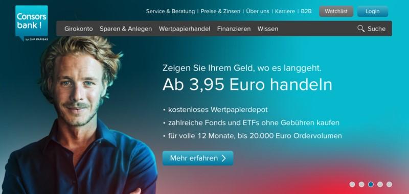 Depotwechsel: Screenshot Consorsbank