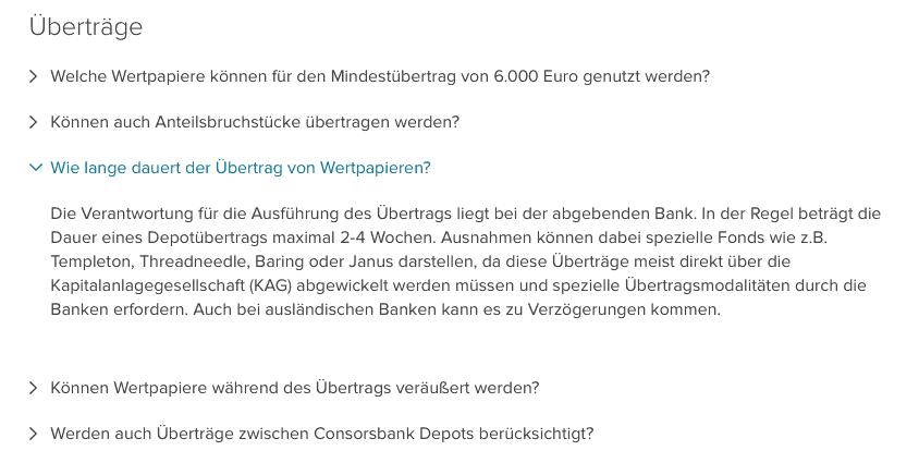 Depotwechsel Consors