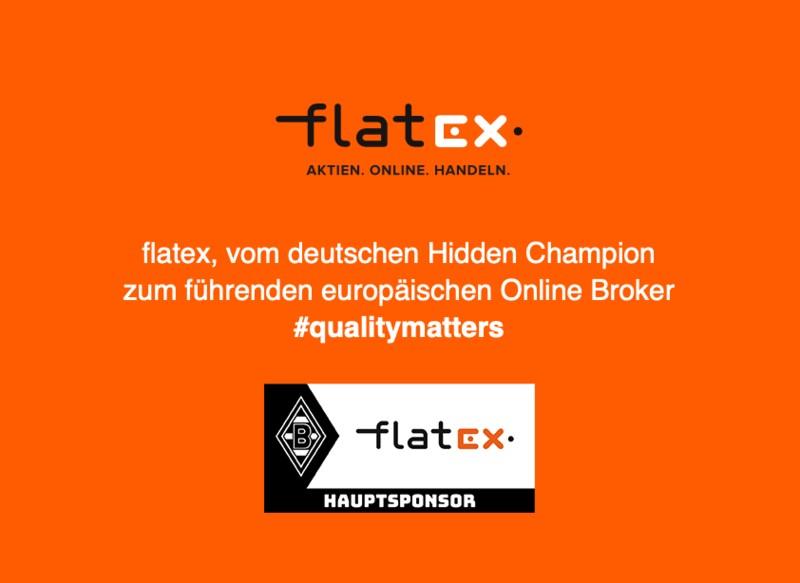 mit flatex Aktien online handeln - Logo