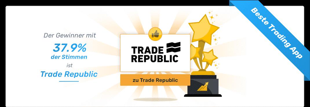 Trade Republic Gewinner - Börsen-Apps
