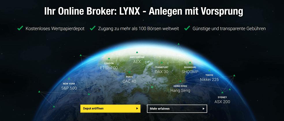halbe Erdkugel im All, LYNX Depoteröffnung