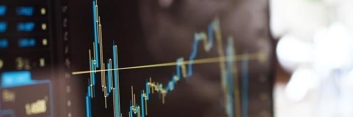 Bildschirm Börsenkurse Analyse - Scalping