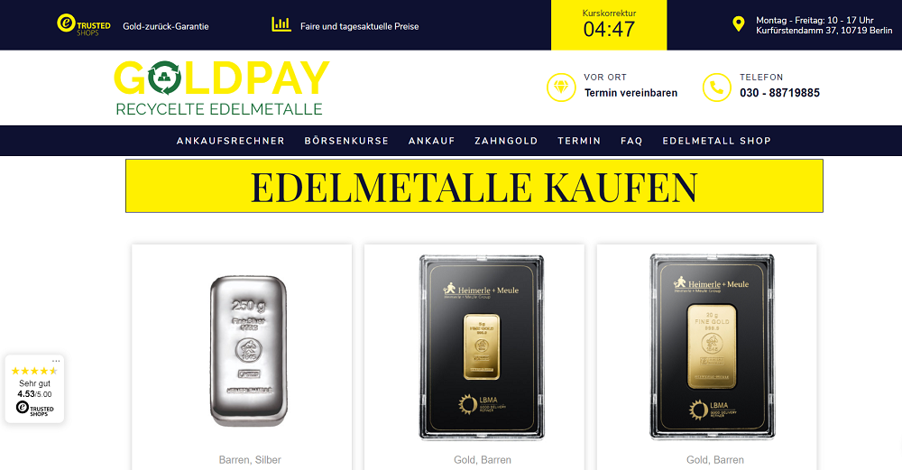 Goldpay Shop Screenshot