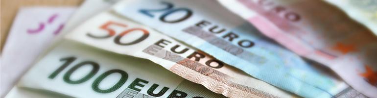 Schwacher Euro - Geldscheine