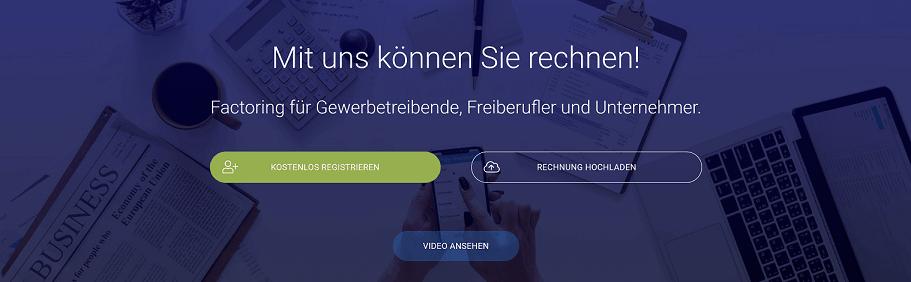 RECHNUNG.de Factoring für Gewerbetreibende, Freiberufler und Unternehmer