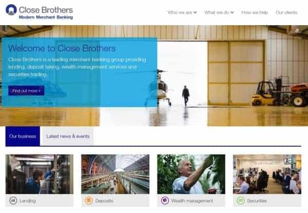 Close Brothers Group ist die größte unabhängige Handelsbank in Großbritannien.