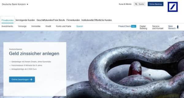 Festgeld bei der Deutschen Bank