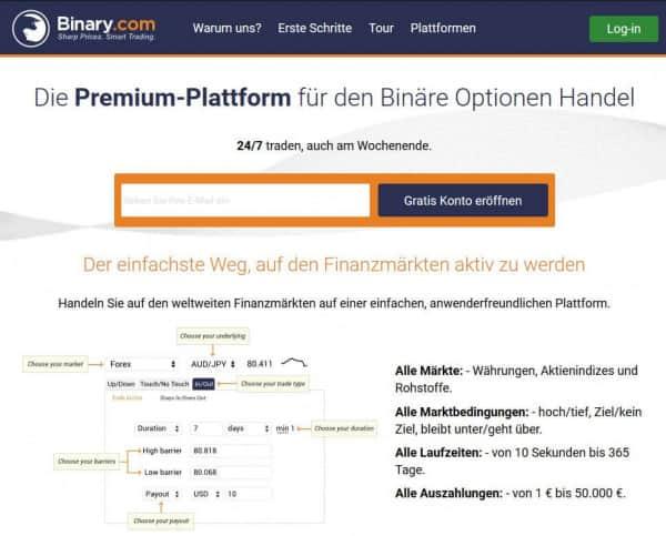 Binary.com bietet derzeit 30 unterschiedliche Währungspaare an.