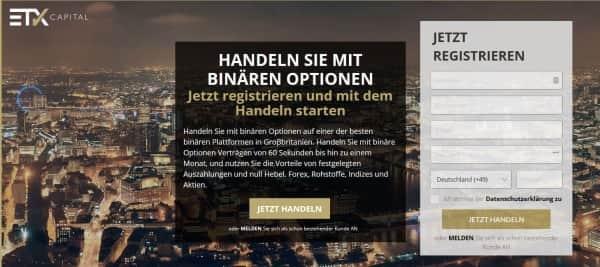 Bei ETX Capital werden auch binäre Optionen an.geboten.