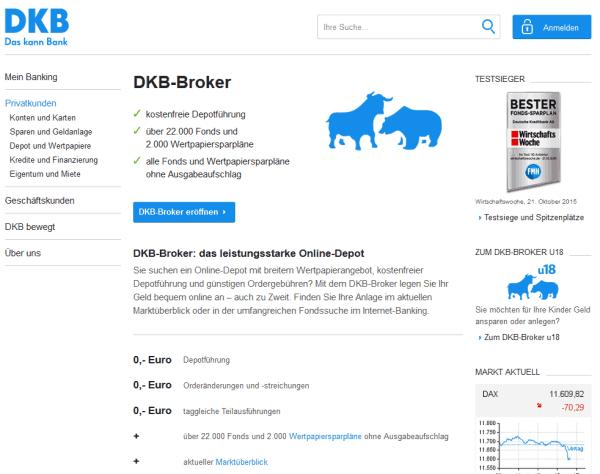 Die DKB bietet zahlreiche Finanzdienstleistungen an.