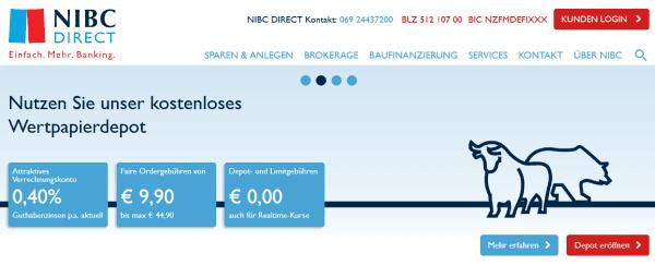 Das Handelsangebot bei NIBC Direct ist nicht all zu umfangreich.