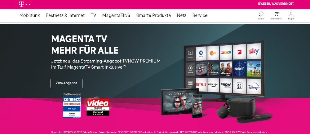 Screenshot Telekom Aktie Startseite