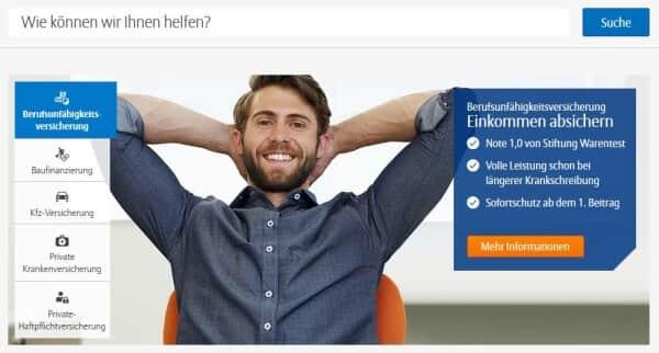 So präsentiert sich Allianz im Internet