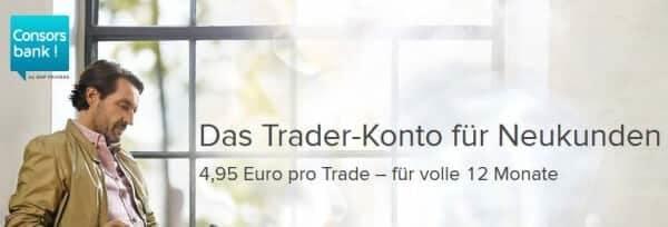 Das Traderkonto für Neukuknden bei der Consorsbank