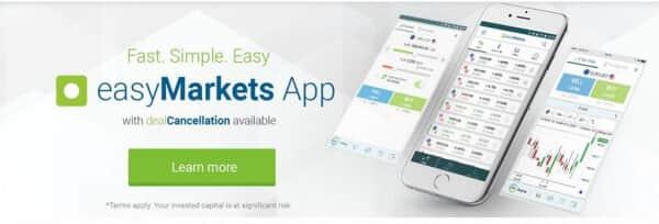 So präsentiert sich easyMarkets auf seiner Webseite