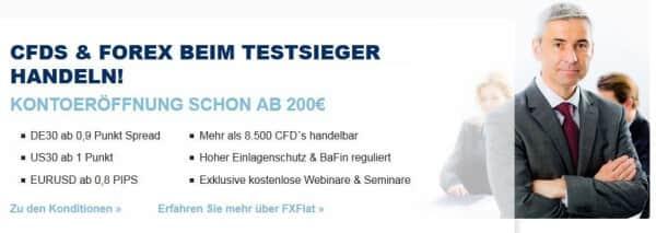 So präsentiert sich FXFlat auf seiner Webseite
