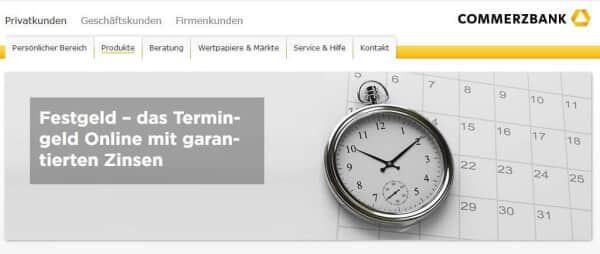 Commerzbank Webauftritt