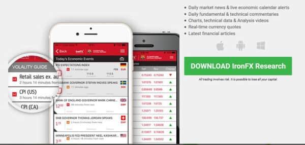Bei IronFX kann man auch mobil traden