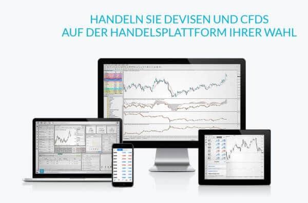 Die JFD Brokers Handelsplattform ist auch mobil nutzbar