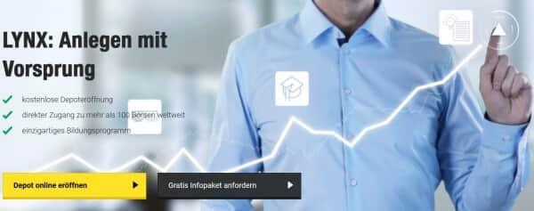 So präsentiert sich LYNX auf seiner Webseite