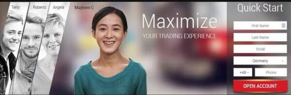 Der Max Options Webauftritt