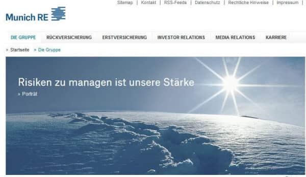 So präsentiert sich das Unternehmen auf seiner Webseite