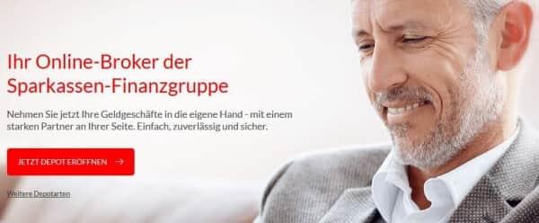 So präsentiert sich S Broker auf seiner Webseite