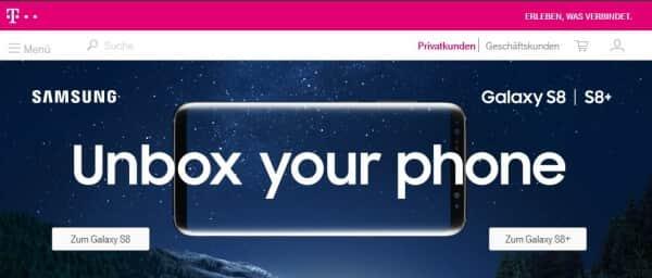 So präsentiert sich die Telekom für seine Kunden im Netz
