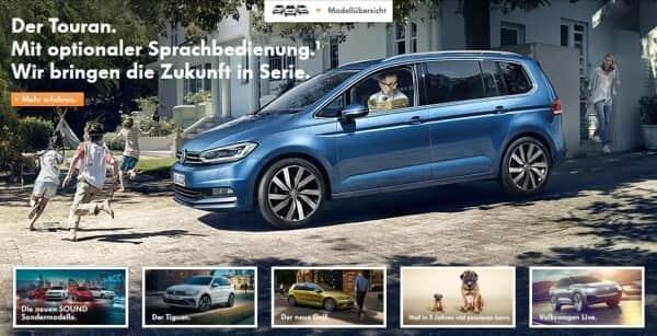 So präsentiert sich VW auf seiner Webseite