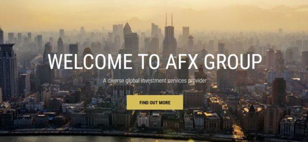 Der Webauftritt von AFX Capital