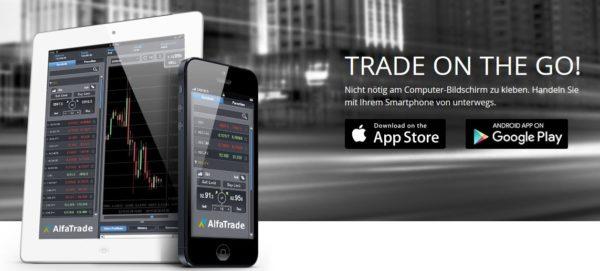 AlfaTrade mobile Handelsplattform