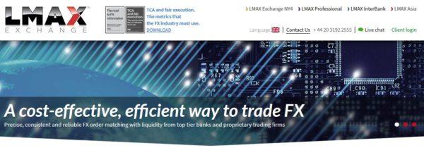 LMAX Webauftritt