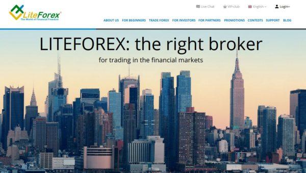 So präsentiert sich Liteforex, ehemals Mayzus auf seiner Webseite
