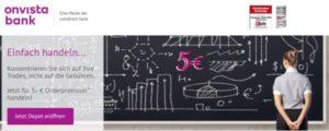 OnVista Bank Webauftritt