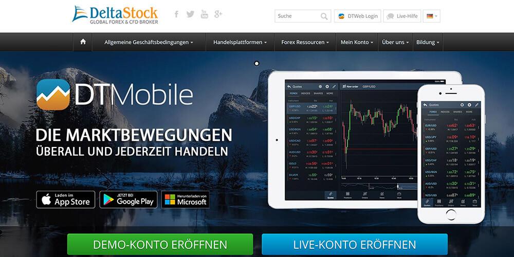 Deltastock Forex und CFD Trading