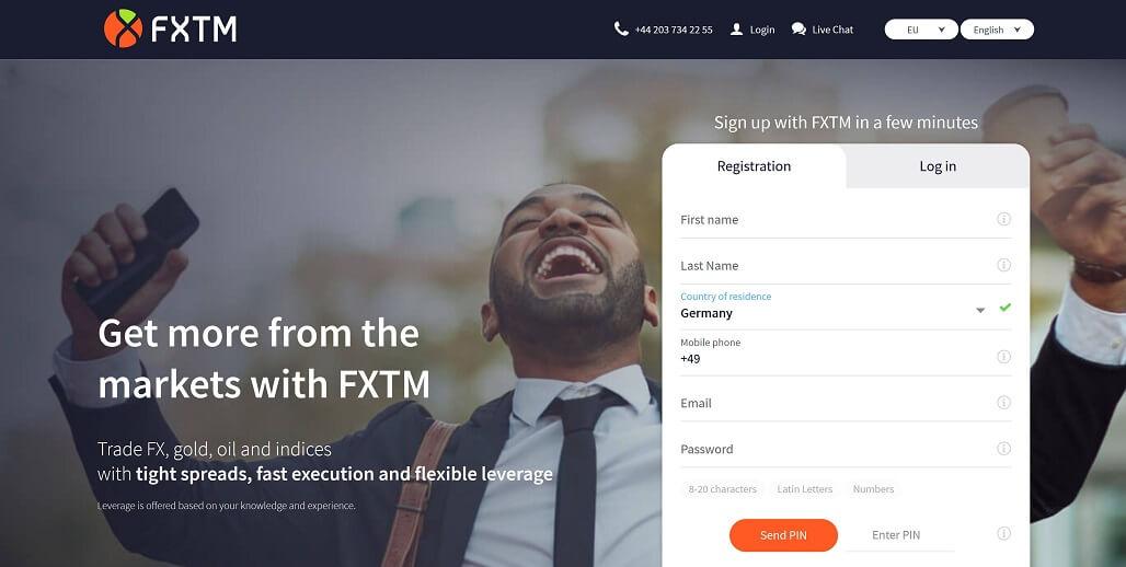 FXTM Konto eröffnen