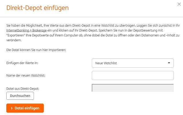 ing direkt depot - ING-DiBa Musterdepot Erfahrungen