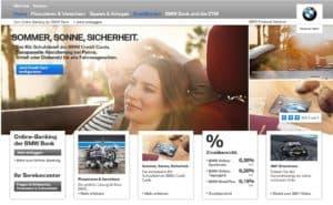 BMW Bank Webauftritt