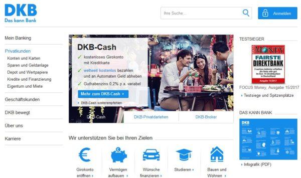DKB Webauftritt