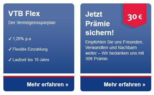 VTB Flex als Alternative zum VTB Festgeld