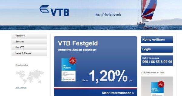 Die VTB Direktbank überzeugt mit kundenfreundlichen Konditionen