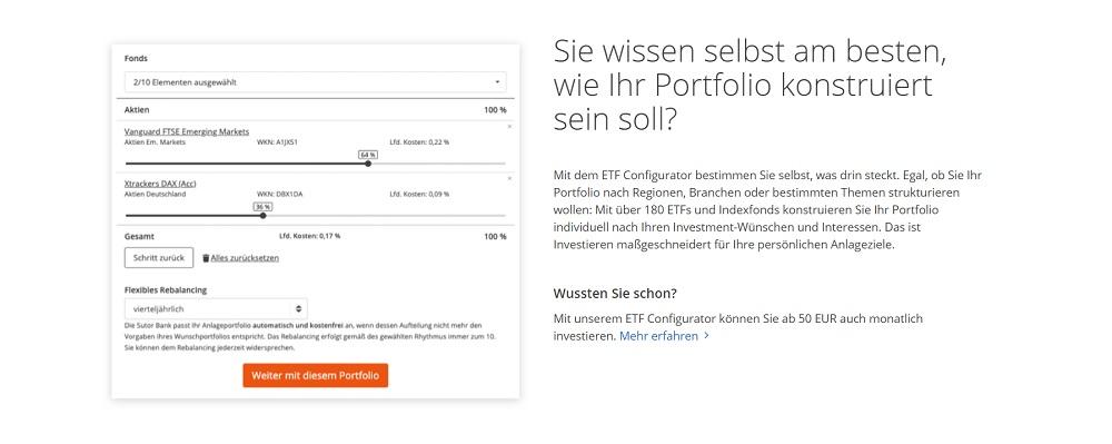 WeltSparen Raisin Invest ETF Configurator